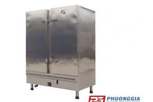 Tủ nấu cơm công nghiệp bằng gas trong khu bếp công nghiệp